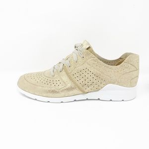 UGG Tye Stardust Gold Leather Trainer Sneakers 8